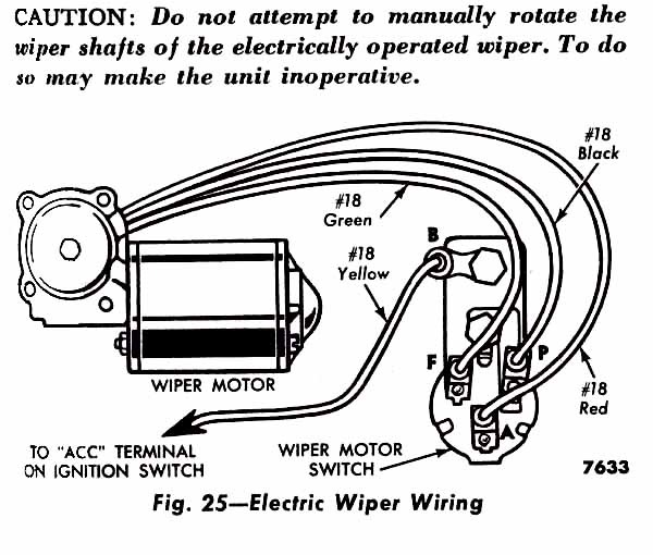 1956 F100  Electric    Wiper    Switch    Wiring    Problem  Ford